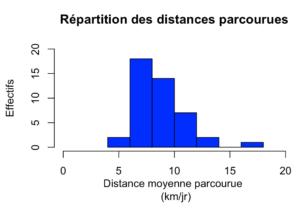 histogramme distances parcourues