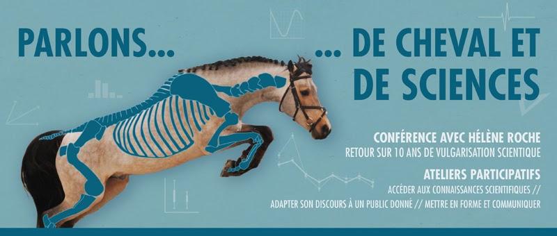 """Affiche """"Parlons de cheval et de sciences"""