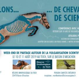 [Annonce] [Évènement] WE Communiquer les sciences équines